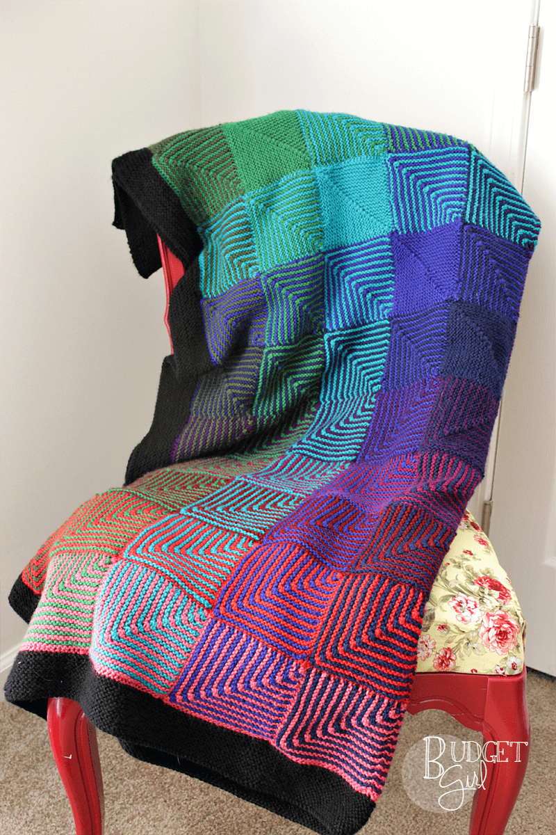 Colorful Afghan Knitting Patterns For Beginners Collection - Blanket ...
