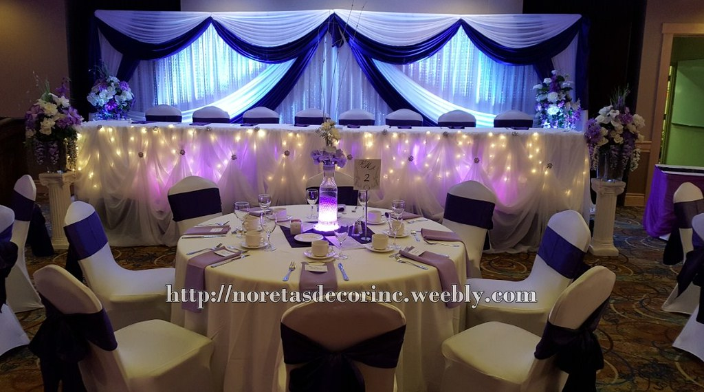 Purple Wedding Reception Decoration Purple Wedding Decorat Flickr