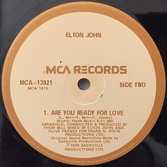 ELTON JOHN:THOM BELL SESSION(LABEL SIDE-B)