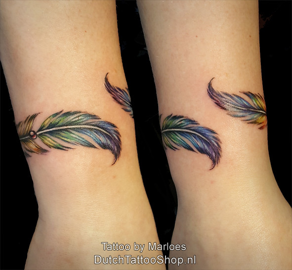 Rainbow Feather Regenboog Veer Armband Bracelet Tattoo Flickr