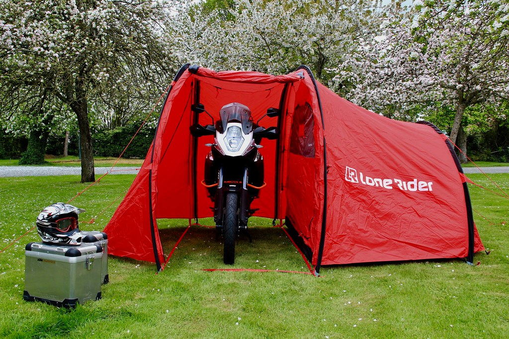 The Best Motorcycle Tent! By Lone Rider | Are you looking fo… | Flickr