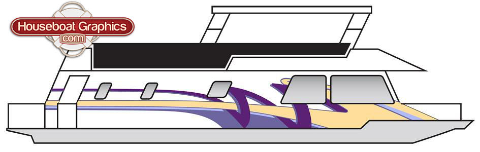 Houseboatgraphicsvinylstripingdesign Houseboatgraphics Flickr - Custom designed houseboat graphics