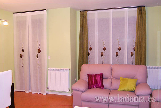 Cortinas para sal n moderno y panel japon s flickr for Doble cortina para salon