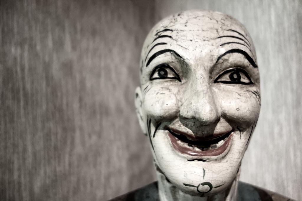 scary clown sculpture eric kilby flickr