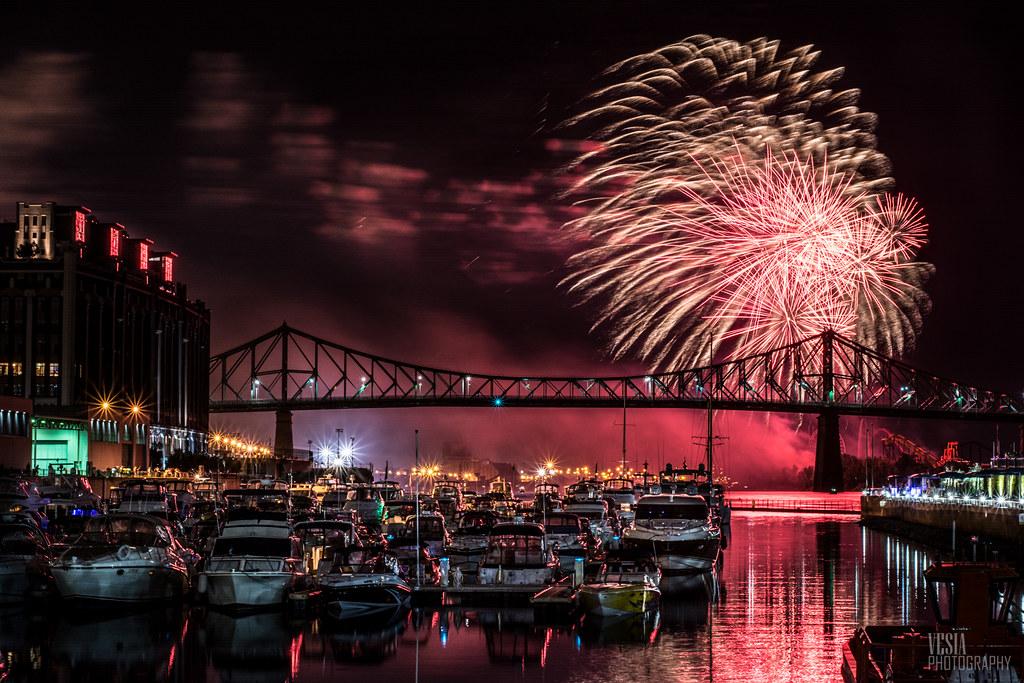 Old Montreal Fireworks Michael Vesia Flickr