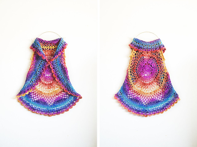 Willow Vest: restful rainbow