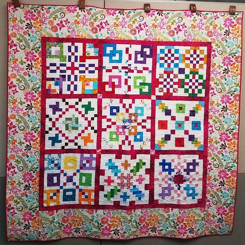 My Dangerous mystery BOM quilt is my first finish of April. @gedesignsgudrun