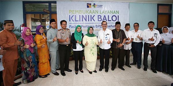 Direktur RSBP, dr Sigit Riyanto M.Sc beserta tamu undangan, saat peresmian Klinik Baloi sebagai Faskes BPJS