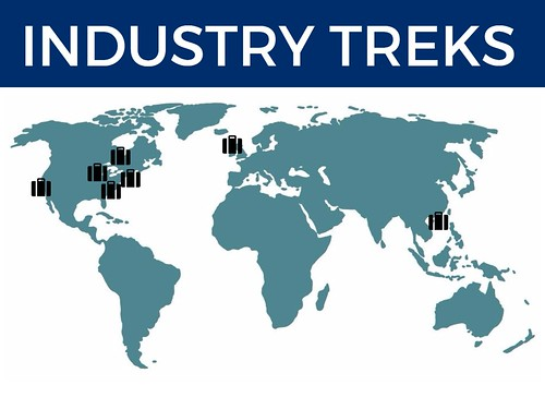 Industry Treks Graphic (indicates cities listed below)