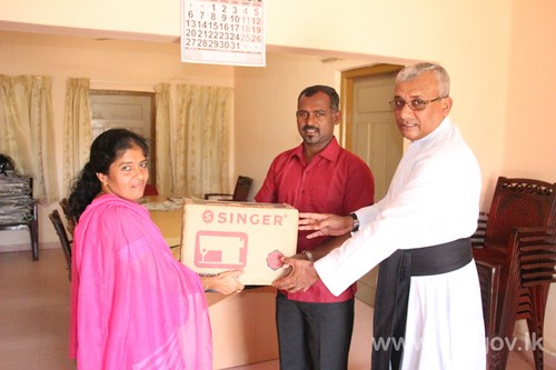 Sewing Machines donated by Fisheries Minister
