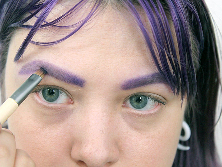 Stap 6: opvullen met oogschaduwpoeder