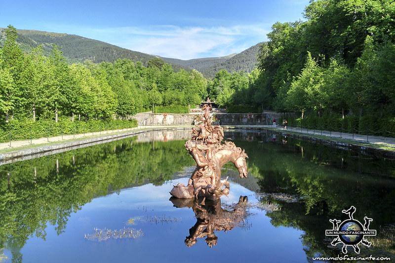 Carrera de Caballos. Reales Jardines del Palacio Real de la Granja de San Ildefonso. Segovia, Castilla y León. España.