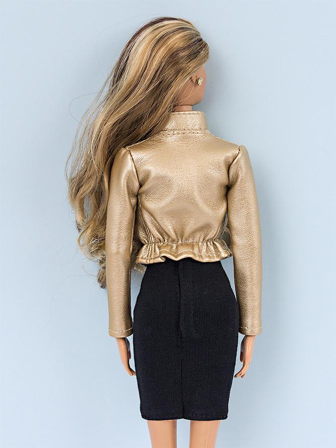 barbie gold jacket