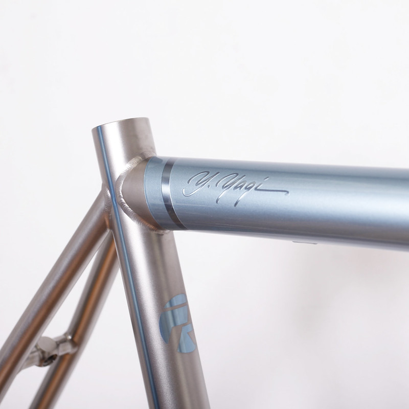 Kualiscycles Ti road Frame & ENVE Carbon Fork Painted by Swamp Things