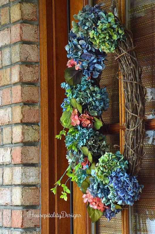 Dried Hydrangea wreath-Housepitality Designs