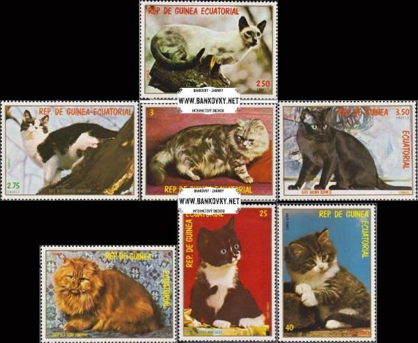 Známky Rovníková Guinea 1978 Mačky, razítkovaná séria