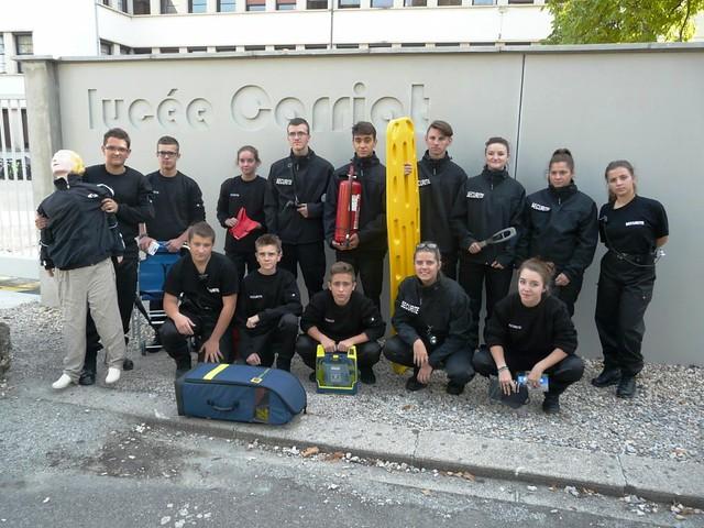 Des élèves de CAP « Agent de sécurité » ont rencontré des agents de l'équipe mobile de sécurité académique