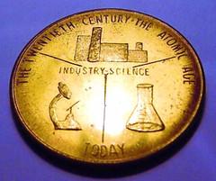 Atomic Age medal reverse