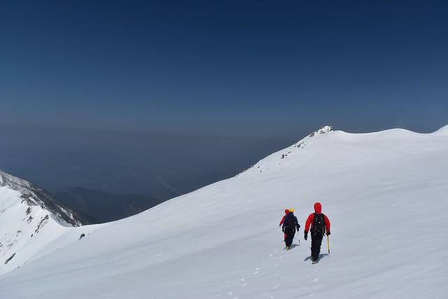 極楽平から三ノ沢岳の稜線へ