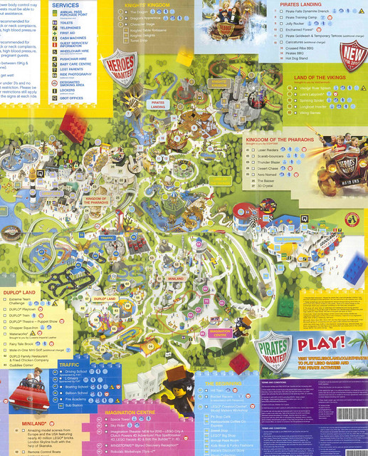 Legoland Windsor 2010 Park Map