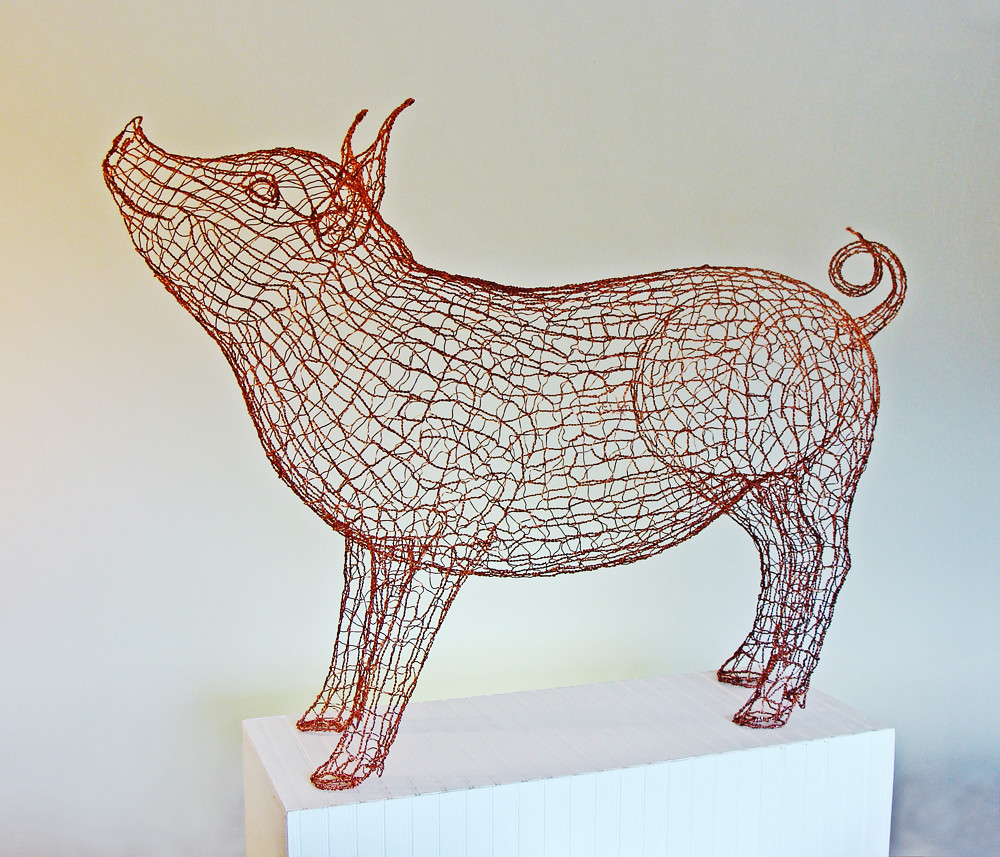 how to make a 3d wire sculpture