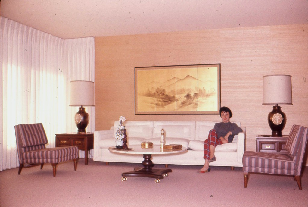 1961 Living Room | At long last here are vintage photos of t… | Flickr