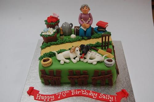 Fabulous Sallys Garden Cake Beautiful Birthday Cakes Funny Birthday Cards Online Overcheapnameinfo