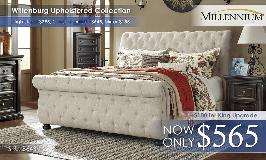 Willenburg Upholstered Bed Only B643