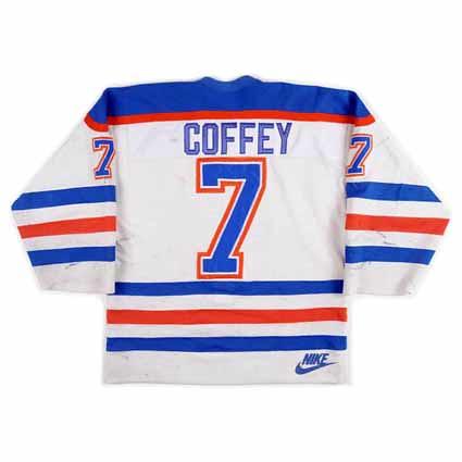 Third String Goalie  1985-86 Edmonton Oilers Paul Coffey Jersey 04107756b