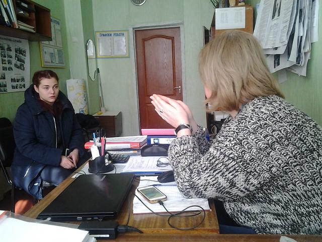Індивідуальна бесіда з ученицею 10 ШЛПМ групи Біляєвою Аліною