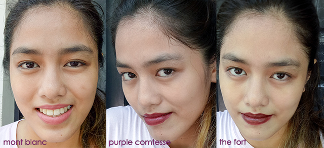 Loreal Color Rouge Lipstick Trio Swatch