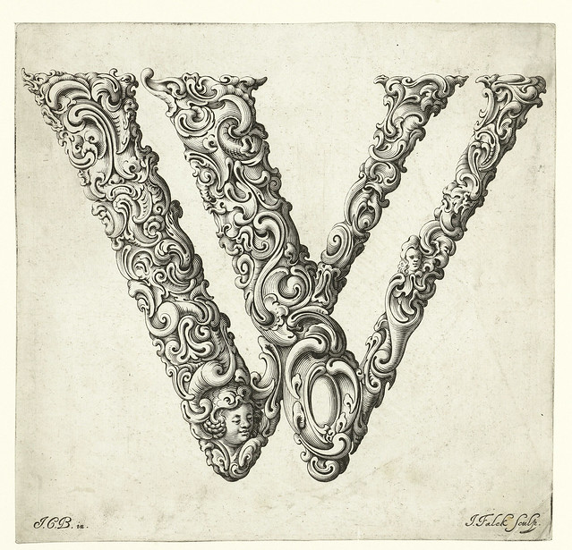 022-Letra W-Libellus Novus Elementorum Latinorum -J. C. Bierpfaff-  Rijksmuseum