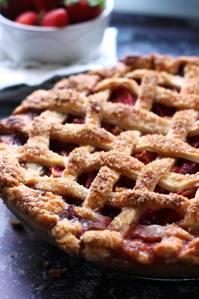 Best Ever Strawberry Balsamic Pie