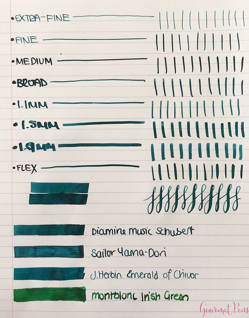 Ink Shot Review Diamine Music Schubert @AppelboomLaren  2