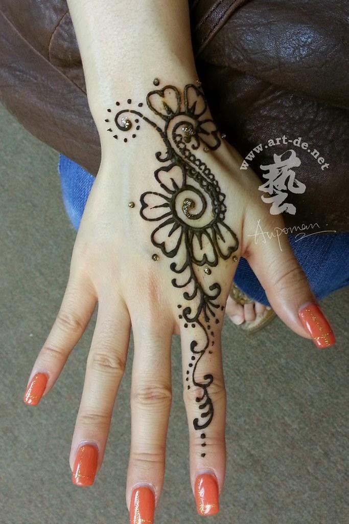 Aupoman Hk Henna Tattoo Hand 16 Henna Tattoo By Aupoman I Flickr