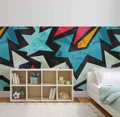 Graffiti decoraci n de paredes decoraci n de - Decoracion de habitaciones juveniles ...