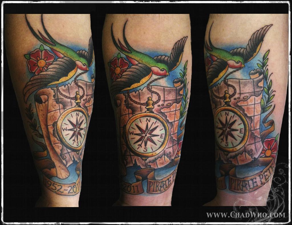 pirate map tattoo tattoo by chad clark www cclarkart com chad rh flickr com pirate ship and map tattoo pirate treasure map tattoo