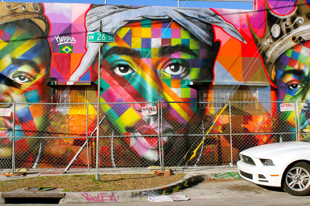 Eduardo kobra mural wynwood miami mr johnson flickr for Mural eduardo kobra