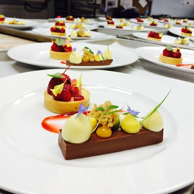 Banquet Duo Dessert  1 Chocolate Ganache  Hazelnut Sponge
