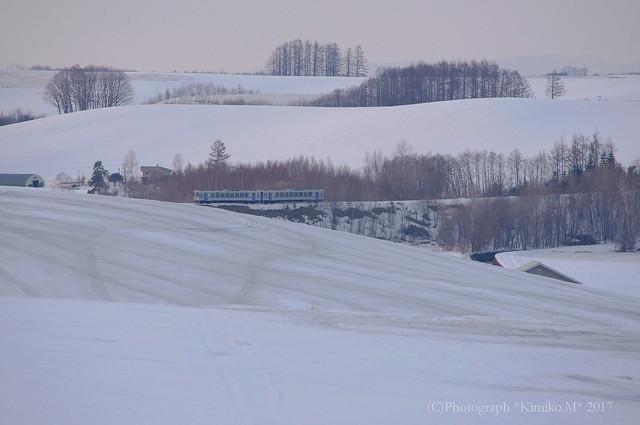 丘の鉄道風景2