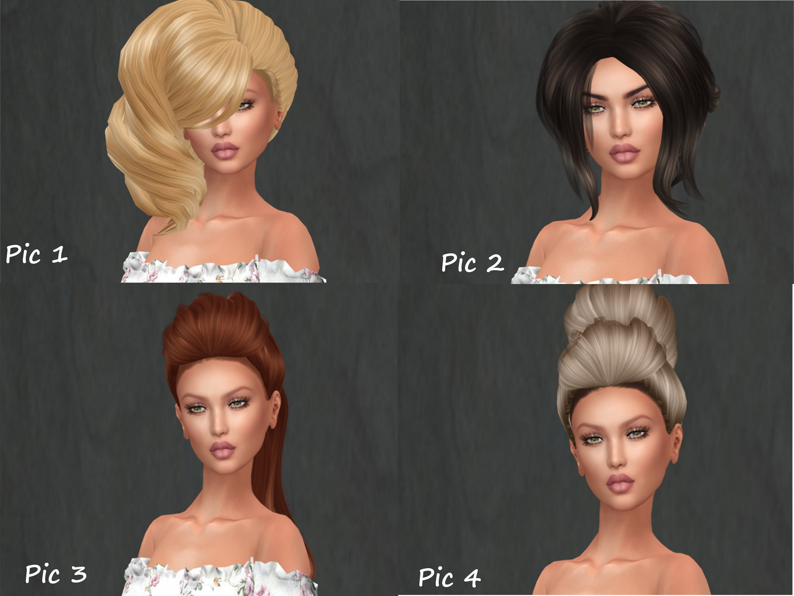 POSH PIXELS HAIR MENAGERIE SET 1
