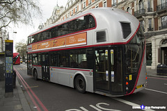 Wrightbus NRM NBFL - LTZ 1190 - LT190 - Silver - Cricklewood Bus Garage 16 - Metroline - London 2017 - Steven Gray - IMG_8815 - IMG_9279