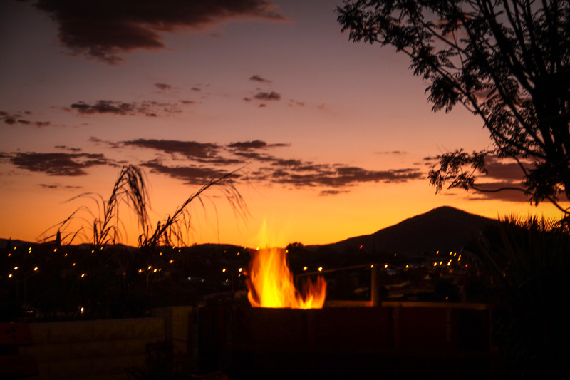 Lagerfeuer Windhoek Namibia