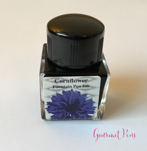Ink Shot Review Diamine Flowers Cornflower @AppelboomLaren  8