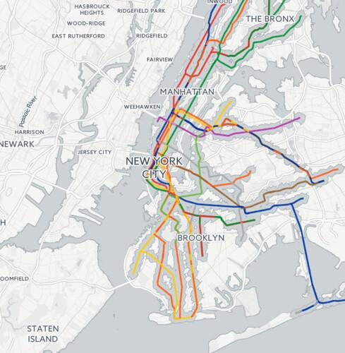 NYC Transit Desert Map by Chris Whong