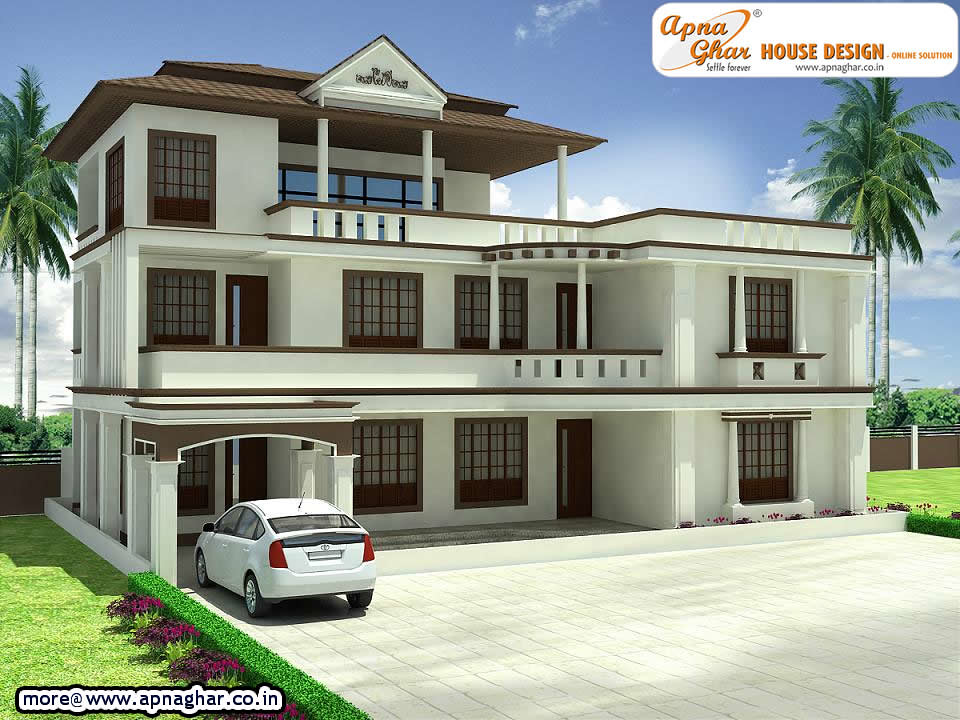 Triplex house design beautiful 4 bedrooms triplex house for Modern triplex house designs