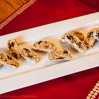 Pistachio and Dried-Cherry Biscotti | by Culinary Fool