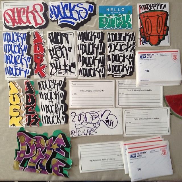 PRIORITY MAIL (Desta One) Tags: usps prioritymail art print labels graffiti  desta destaone