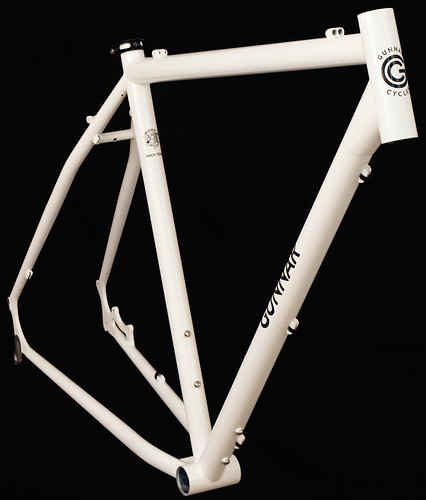 Gunnar Rock Tour in White with Black Bullseye Decals - Front View | by Gunnar Cycles
