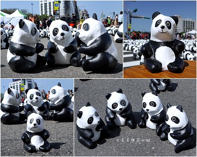 15 紙貓熊 1600貓熊之旅-台北 0224 台北市政府廣場展覽